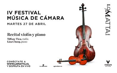 IV Festival de Música de Cámara: Recital de violín y piano